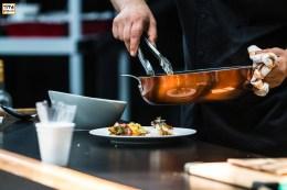 Chef Hoss Zaré workshop on Persian Cuisine at Tirgan Festival in Toronto. 2017