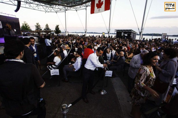 West Jet Stage at Harbourfront Centre being packed by Iranian to watch the Sufi dance