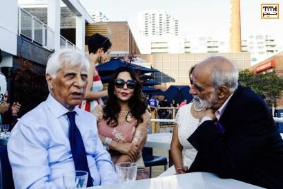 Bahram Beizai; Persian Master of arts; a filmmaker, playwright, theatre director, screenwriter, and Aidin Aghdashloo, Painter