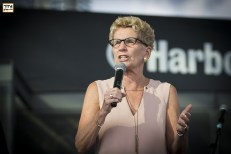 Premier of Ontario, Kathleen Wynne. Tirgan Festival 2017 at Harbourfront Center, Toronto