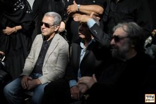 مسعود کیمیایی، داریوش فرهنگ و فرامرز قریبیان در مراسم وداع با ناصر ملک مطیعی - عکس از مجید فراهانی