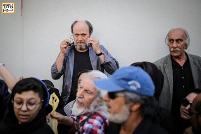 امین تارخ در مراسم وداع با ناصر ملک مطیعی در خانه سینما - عکس از مجید فراهانی