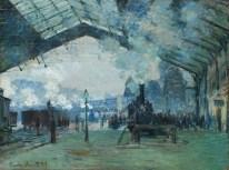 Claude Monet, Arrival of the Normandy Train, Gare Saint-Lazare, 1877.