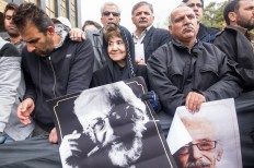 The funeral ceremony of Iranian veteran actor Jamshid Mashayekhi