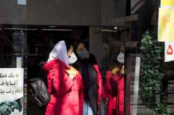 Authorities such as firefighters in city of Tabriz, East Azerbaijan of Iran are disinfecting streets and public places, including the Bazaar of Tabriz, on a daily basis to fight the spread of the novel coronavirus.