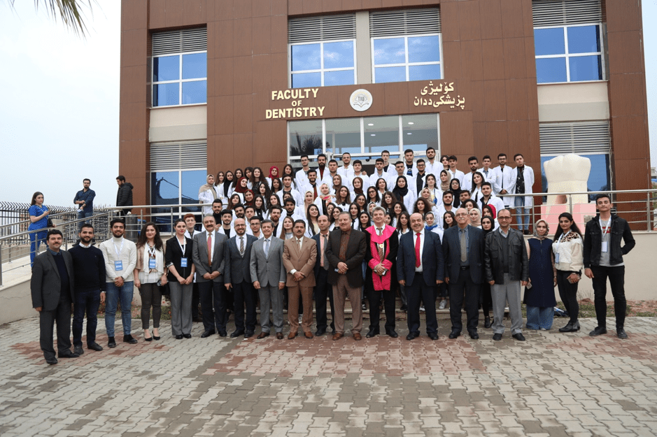 Staff and students infant of Dentistry Building