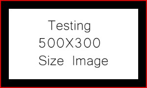 "Text that says ""Testing 500X300 Size Image"""