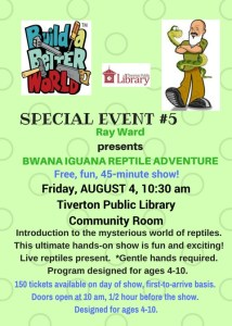 Flyer for Ray Ward's Bwana Iguana Reptile Adventure