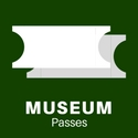 "Digital drawing of two plain white tickets captioned ""Museum Passes"""