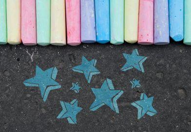 Cosmic Chalk Art