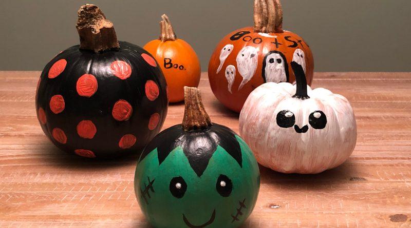 painted pumpkins halloween