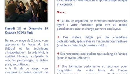Newsletter - LIFI - Ligue Française d'Improvisation