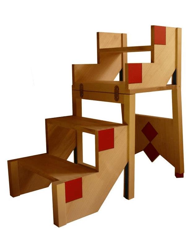 chaise escabeau bois finest erru marchepieds tabouret. Black Bedroom Furniture Sets. Home Design Ideas