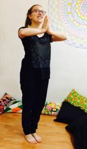 posizione yoga la preghiera