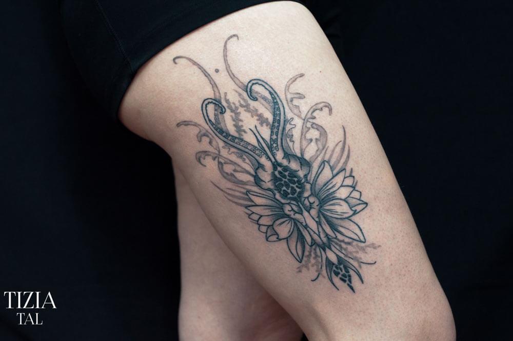 tatouage cicatrisé
