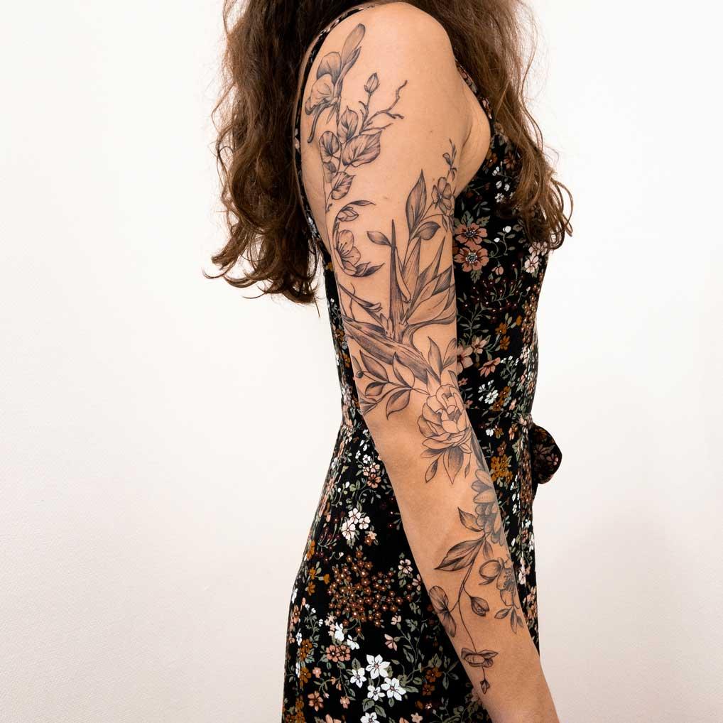 Manchette-fleurs-femme
