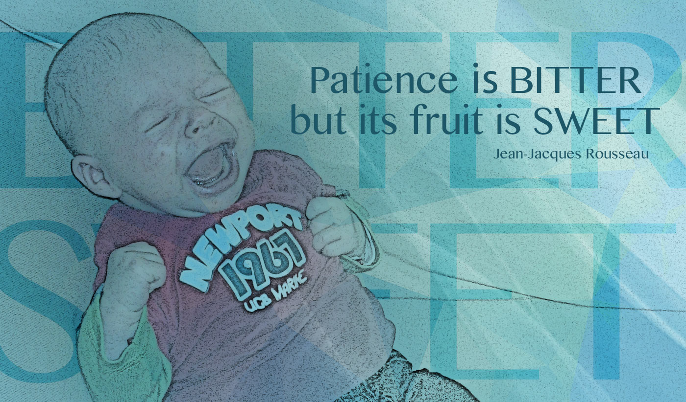 daily inspirational quote image: screaming infant, with closed fists