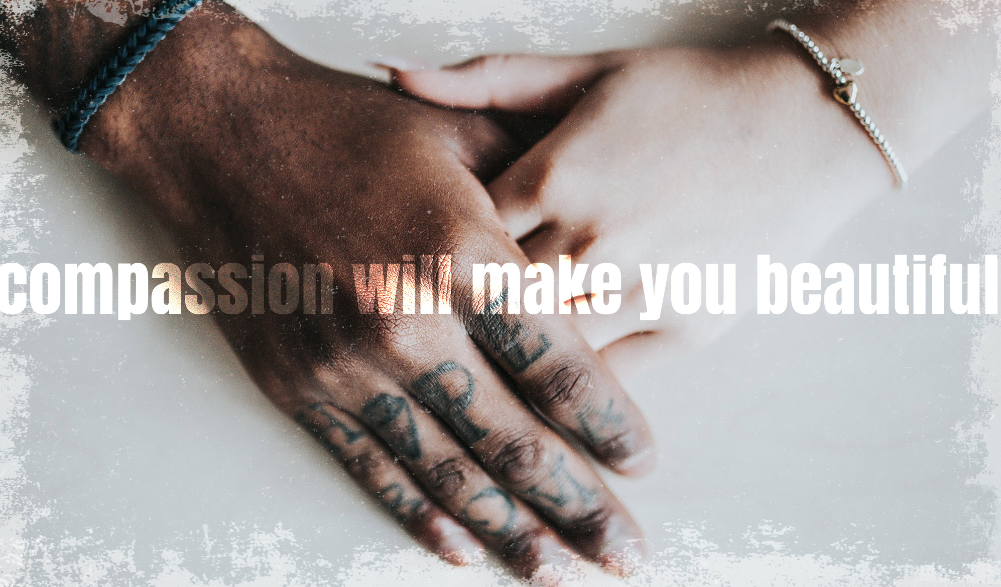 daily inspirational quote image: close up on two hands holding each other