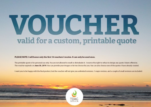 voucher for a free quote
