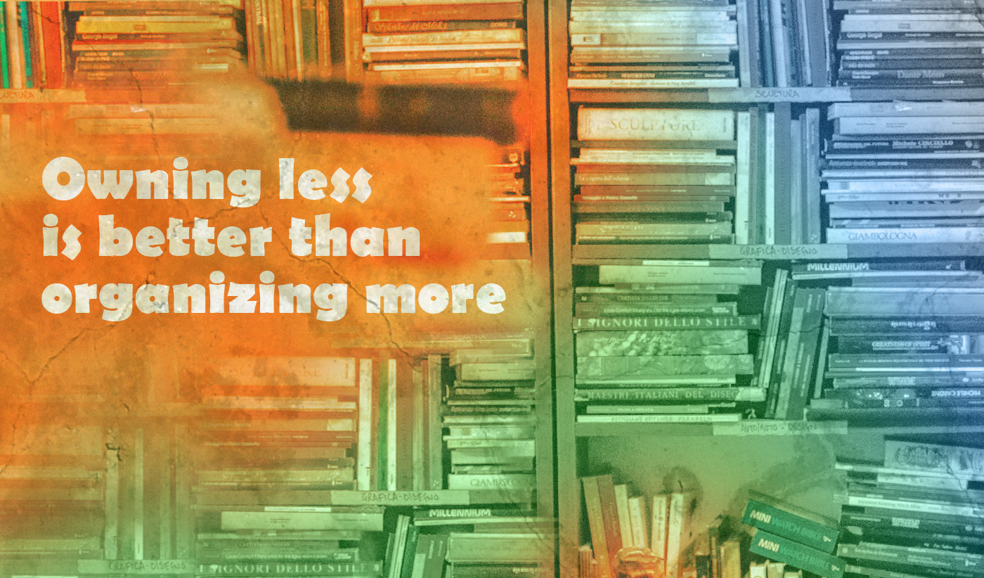 daily inspirational quote image: bookshelves overflowing with books