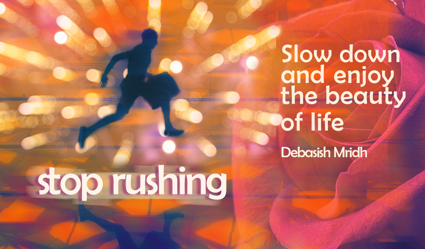 daily inspirational quote image: a man rushing through an airport