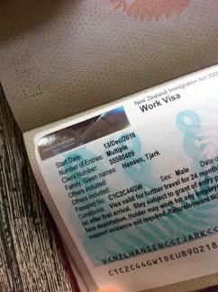 my NZ - Visa
