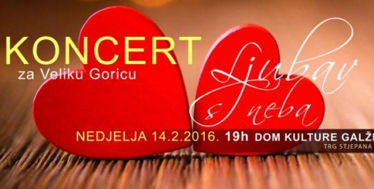 """14.2. Koncert """"LJubav s neba"""", Velika Gorica"""