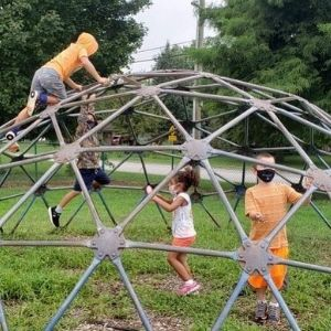 Students play outside for recess