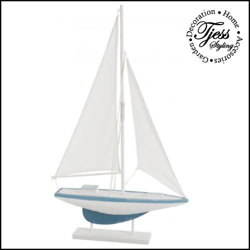 Zeilboot large blauw wit j line tjess styling for Decoratie zeilboot