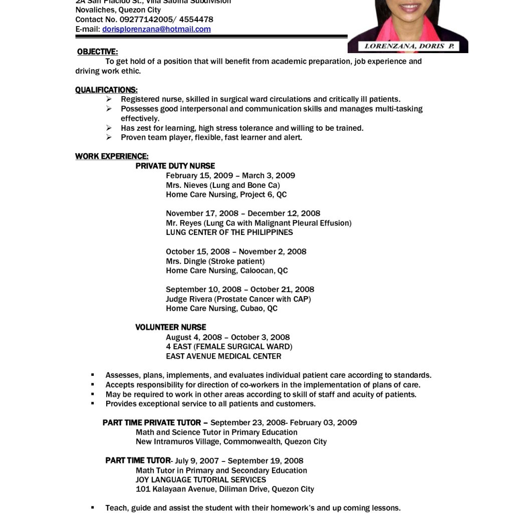 A Sample Resume For A First Job Good Sample Resumes For Jobs First Job Resume Examples 1st