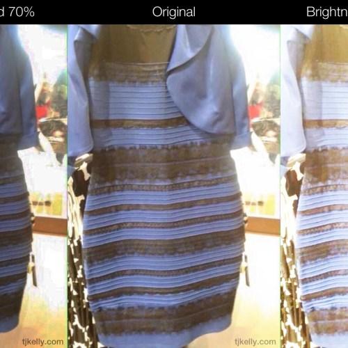 Dress blue black white gold debate #blackandblue #whiteandgold.