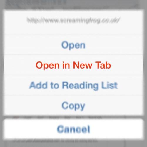 iOS Safari Open in New Tab.