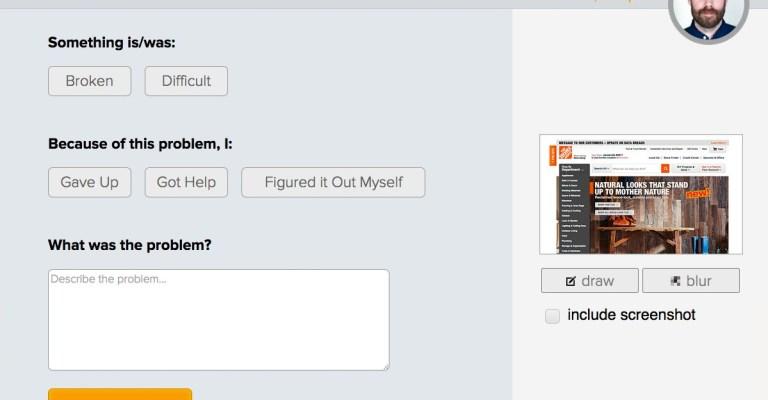 Shout User Testing form: Shout at (negative feedback).
