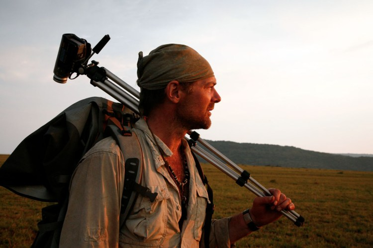 Survivorman with a video camera.