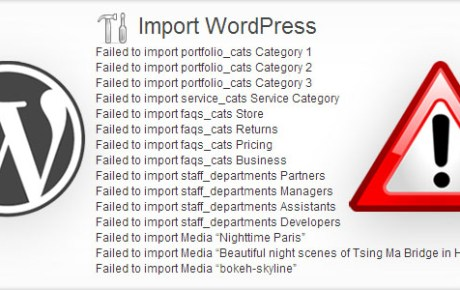 WordPress Import Failed.