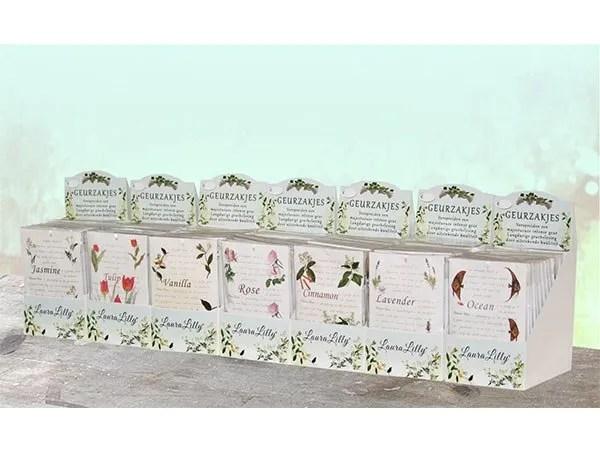 Laura Lisa Geurzakjes proefpakket 13 verschillende zakjes in 1 pakket.