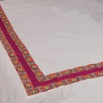 Buy 7 Piece 1 Bed Runner 1 Bed Sheet 1 A C Quilt 2 Pillowcases 2 Cushion Covers Magenta Pure Cotton Kutch Embroidery Bed Set Online Tjori Com