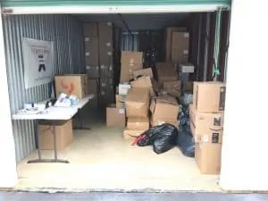 The Joy of Sox's new storage facility in King of Prussia, PA.  The Joy of Sox is a nonprofit that provides joy to the homeless by giving them new socks.