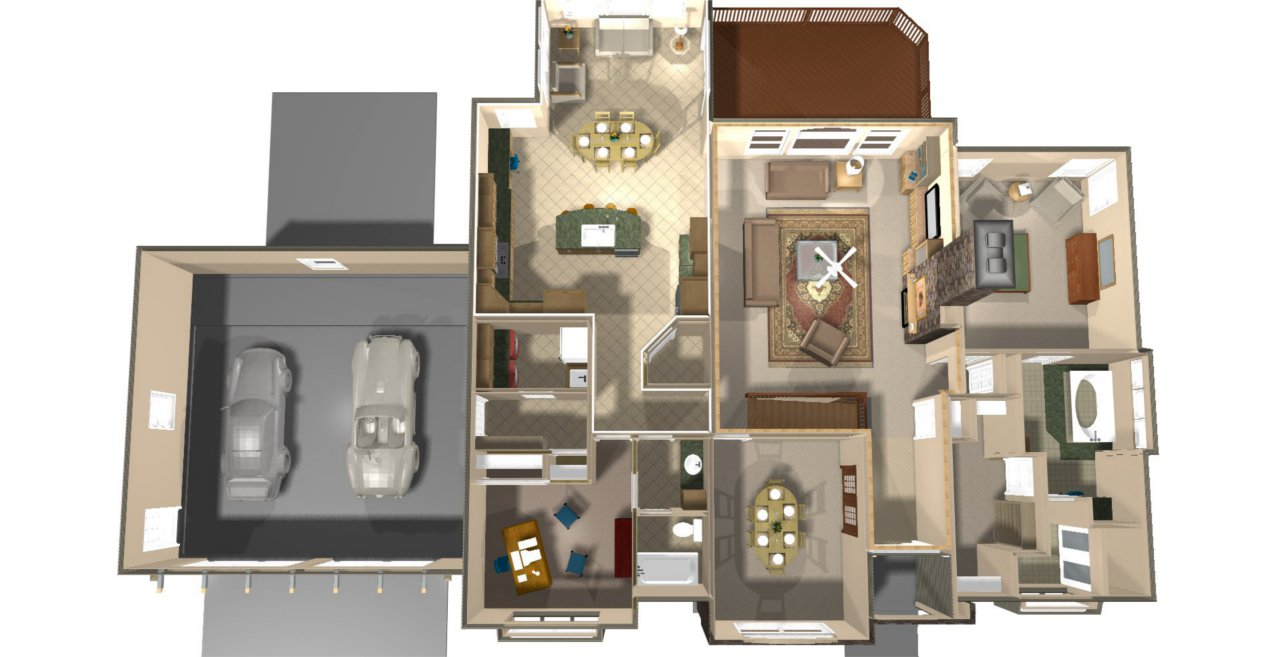 Top View House Plan – House Design Ideas