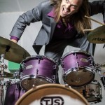 Drummer Tyler Alcorn With His TJS Custom Drums