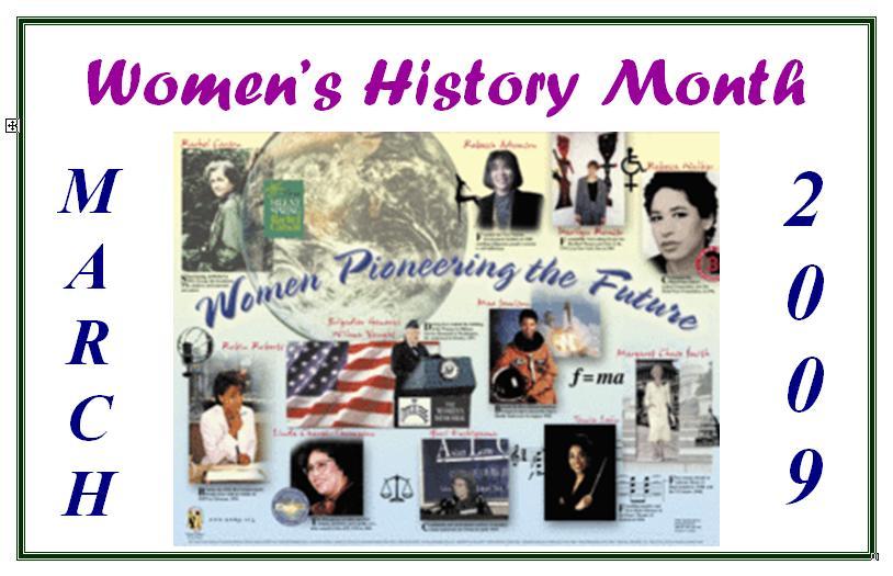 Women's History Month 2009