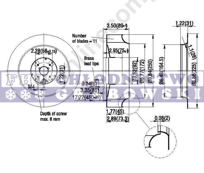 Turbine evaporator 12V Carrier Xarios / Supra ; 54-00554