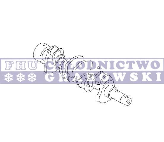 Wał korbowy sprężarki Thermo King X430 (gruby wał) ; 22