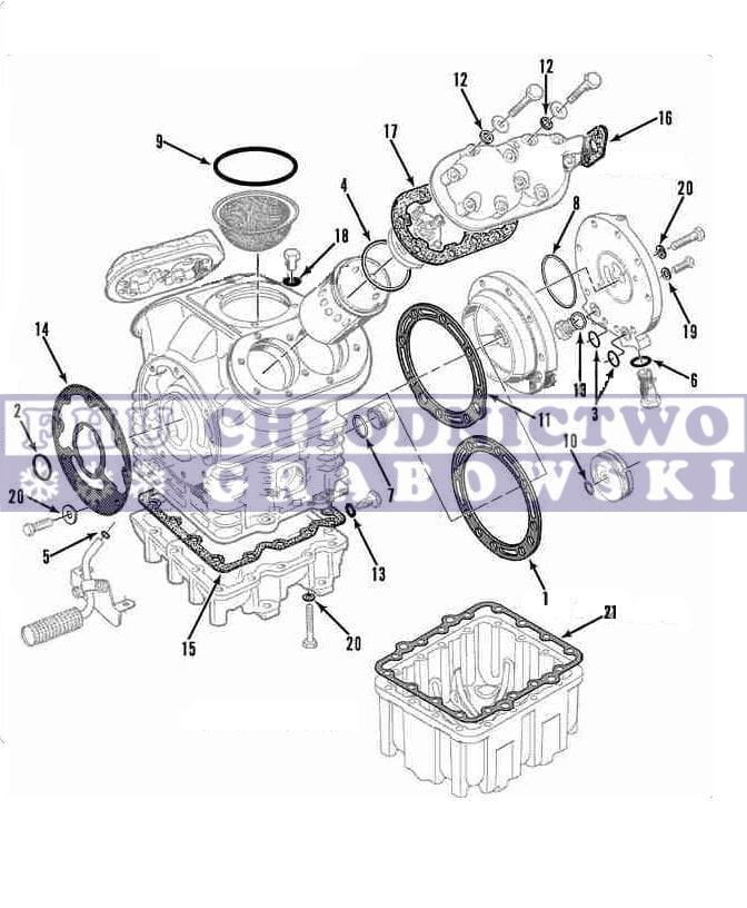 Compressor Gaskets (kit) Thermo King X426 / X430 ; 30-0243