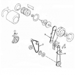 Belt set Thermo King SB / SB 100 (30) ; replacement