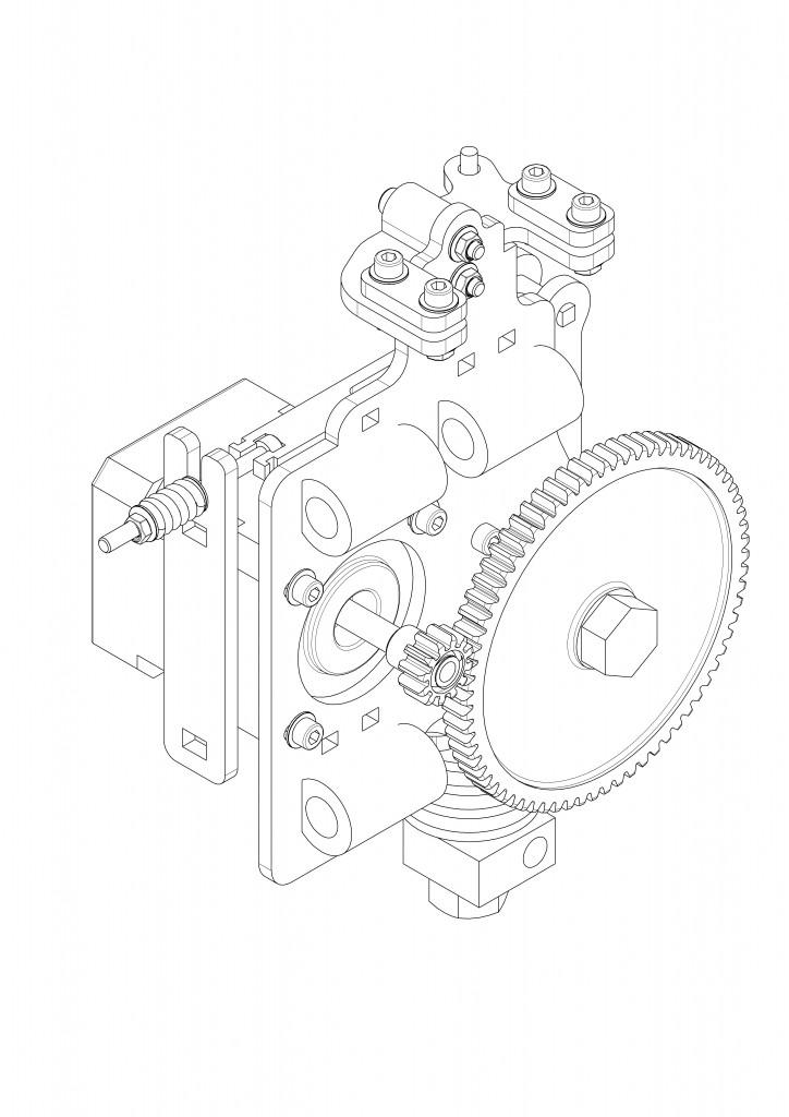 Modeling 3-D Printer SolidWorks (drawings, rendering