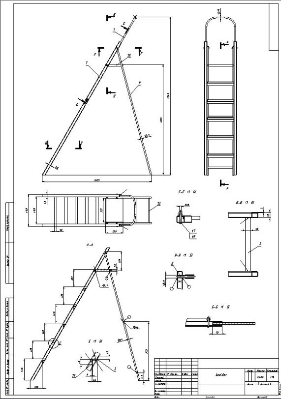 3D modeling SolidWorks — Ladder — TDE /Design & Engineering/