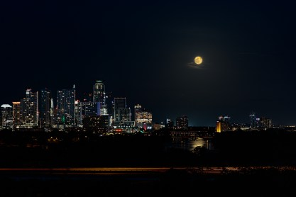Austin Skyline - Strawberry Moon