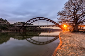 Pennybacker Bridge Reflection
