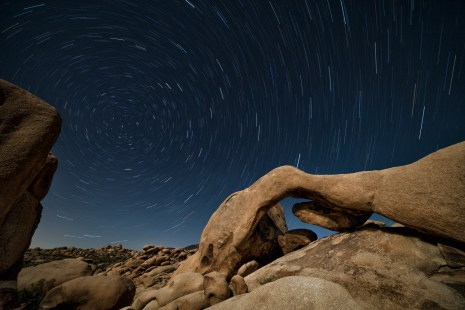Arch Rock Star Trails